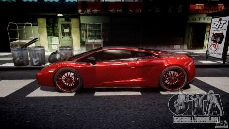 Lamborghini Gallardo Superleggera 2007 (Beta) para GTA 4 esquerda vista