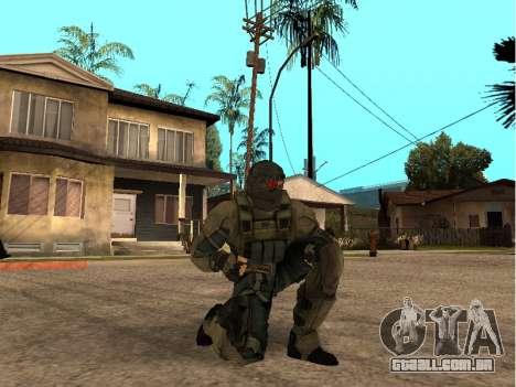 O engenheiro do exército de pele para GTA San Andreas por diante tela