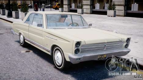 Ford Mercury Comet 1965 para GTA 4 vista inferior