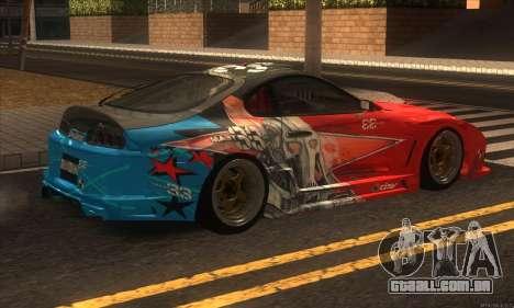 Toyota Supra Evil Empire para GTA San Andreas vista traseira