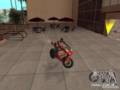 Ducati 1198R para GTA San Andreas vista direita