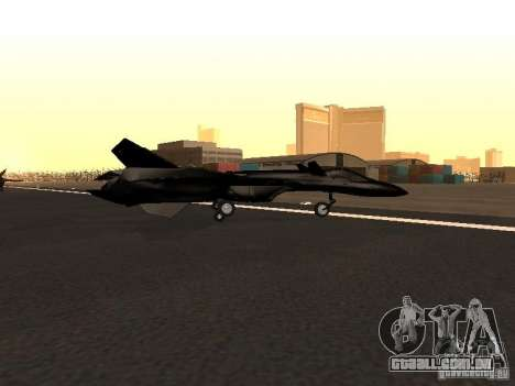 Y-f19 macross fighter para GTA San Andreas esquerda vista