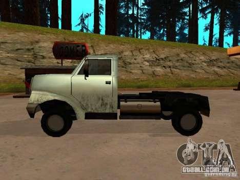 Yankee Truck para GTA San Andreas vista direita
