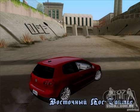 Volkswagen Golf MK5 GTI Stance para GTA San Andreas vista interior