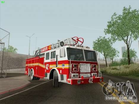 Seagrave Ladder 42 para GTA San Andreas vista superior