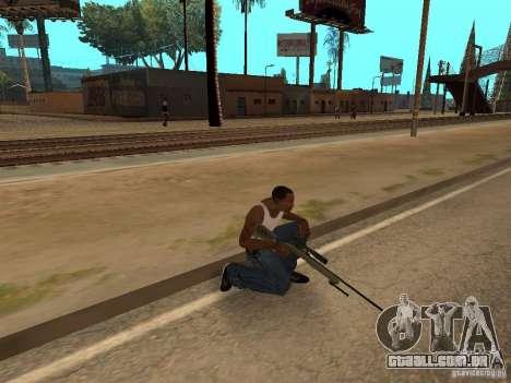 M40A3 para GTA San Andreas por diante tela