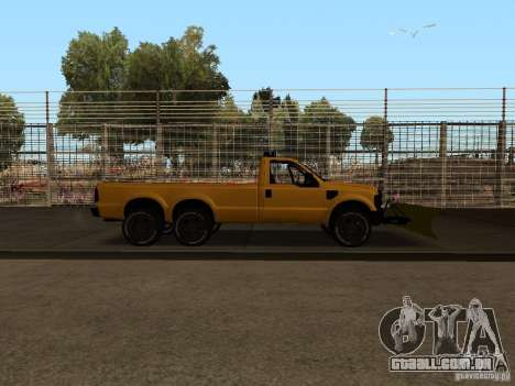 Ford Super Duty F-series para GTA San Andreas vista direita