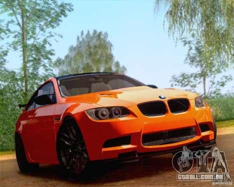 BMW M3 GT-S 2011 para GTA San Andreas traseira esquerda vista