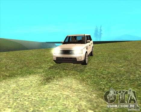 Range Rover Sport 2012 para GTA San Andreas traseira esquerda vista