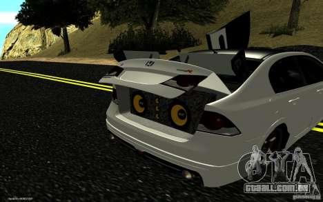 Honda Civic Type R para GTA San Andreas interior