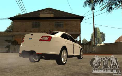 Ford Taurus 2010 para GTA San Andreas vista direita