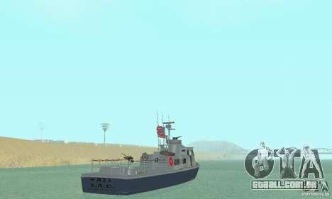 Coast Guard Patrol Boat para GTA San Andreas esquerda vista