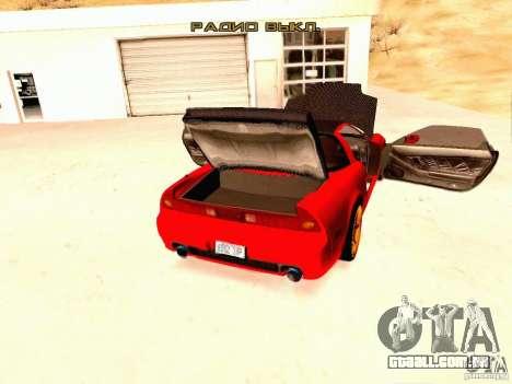 Acura NSX Stance Works para GTA San Andreas vista traseira