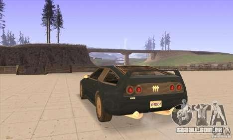 Deluxo HD para GTA San Andreas traseira esquerda vista