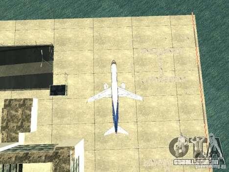 Embraer E-190 para GTA San Andreas vista interior