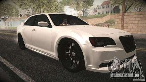 Chrysler 300 SRT8 2012 para vista lateral GTA San Andreas