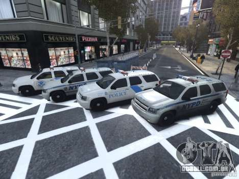 Chevrolet Tahoe Homeland Security para GTA 4 vista lateral