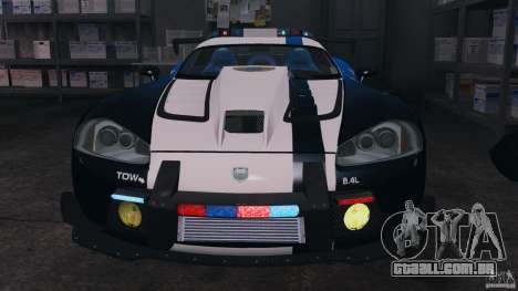 Dodge Viper SRT-10 ACR ELITE POLICE [ELS] para GTA 4 vista interior