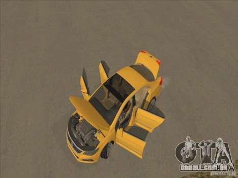 Volkswagen Passat CC para GTA San Andreas vista superior