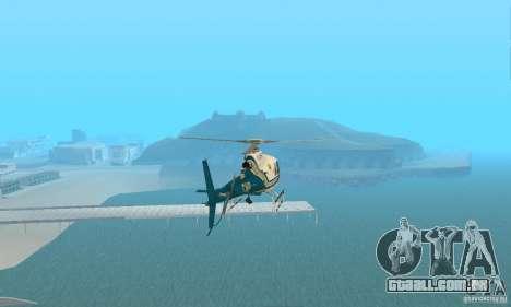 AS350 Ecureuil para GTA San Andreas vista direita
