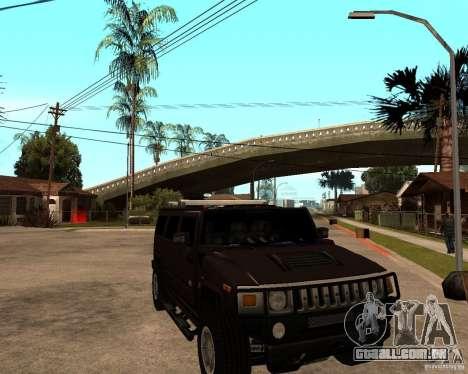 Hummer H2 SE para GTA San Andreas vista traseira