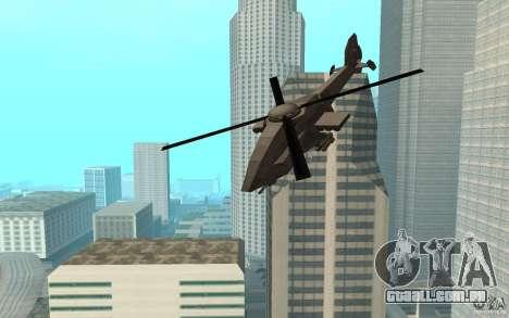 MQ Drone from BO2 para GTA San Andreas traseira esquerda vista