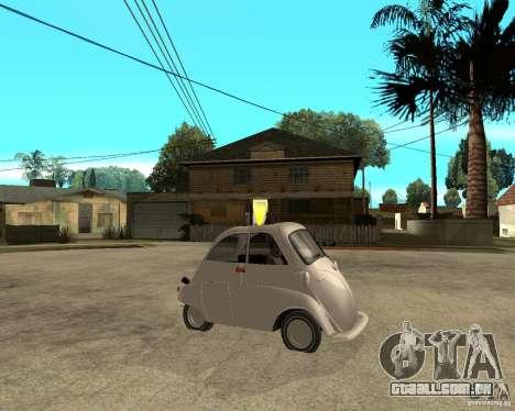 BMW Isetta para GTA San Andreas vista direita