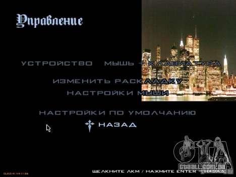 Novo menu no estilo de Nova Iorque para GTA San Andreas terceira tela