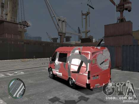 Gazela 2705 Telkomsel Van para GTA 4 esquerda vista