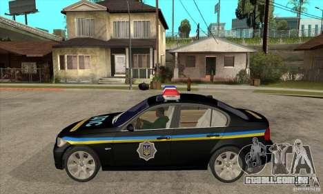 BMW 3 série DPS para GTA San Andreas esquerda vista