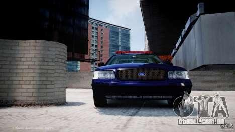 Ford Crown Victoria New York State Patrol [ELS] para GTA 4 motor