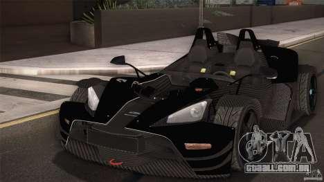 KTM-X-Bow para GTA San Andreas interior
