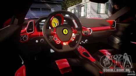 Ferrari 458 Italia Dub Edition para GTA 4 vista superior