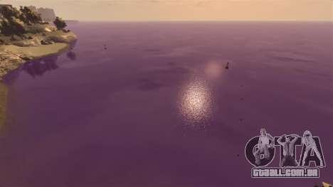 A cor púrpura da água para GTA 4 terceira tela