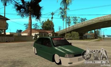 Volkswagen Gol v1 para GTA San Andreas vista traseira