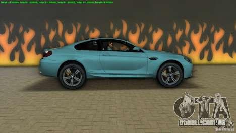 BMW M6 2013 para GTA Vice City deixou vista