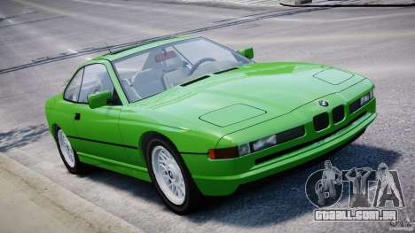 BMW 850i E31 1989-1994 para GTA 4 vista inferior