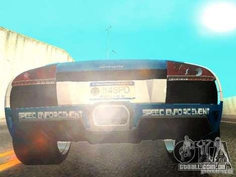 Lamborghini Murcielago LP640 Police V1.0 para GTA San Andreas vista traseira