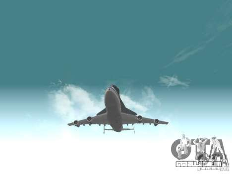 Boeing 747-100 Shuttle Carrier Aircraft para GTA San Andreas vista traseira
