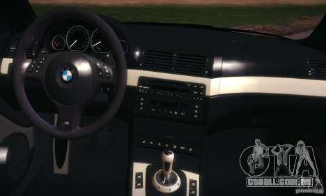 BMW M3 para GTA San Andreas vista superior