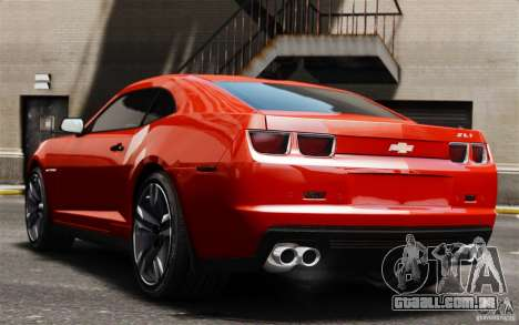Chevrolet Camaro ZL1 v1.0 para GTA 4 vista de volta