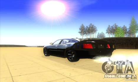 Dodge Charger From Fast Five para GTA San Andreas vista traseira