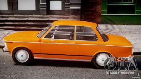 BMW 2002 1972 para GTA 4 traseira esquerda vista