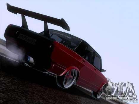 VAZ-2107 carro Tuning para GTA San Andreas esquerda vista
