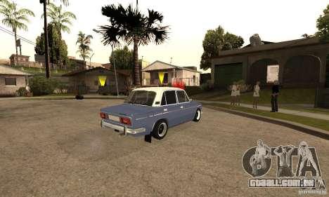 2106 VAZ velho v 2.0 para GTA San Andreas interior