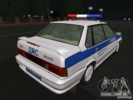 VAZ 2115 polícia DPS para GTA San Andreas vista direita
