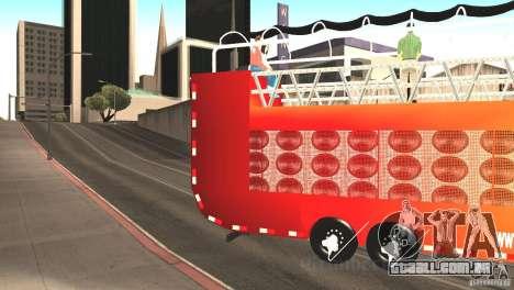 Scania 93H 6x2 Trio Eletrico para GTA San Andreas esquerda vista