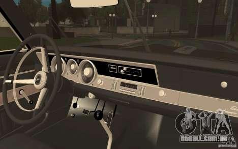 Plymouth Barracuda Formula S para GTA San Andreas vista traseira