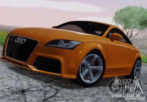 Audi TT-RS Coupe para GTA San Andreas vista traseira