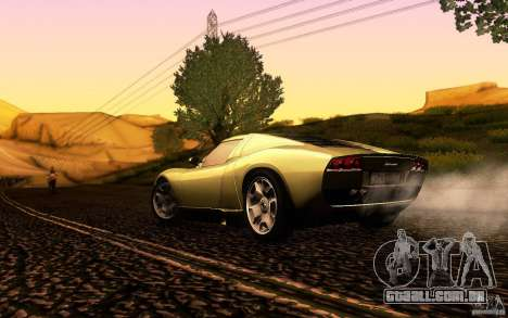 Lamborghini Miura Concept para GTA San Andreas vista superior